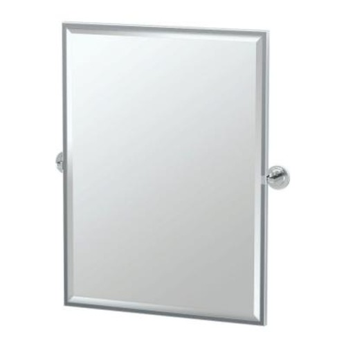 Gatco Marina 28 in. x 33 in. Framed Single Large Rectangle Mirror in Chrome