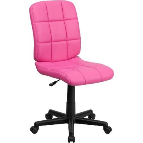 Flash Furniture Mid-Back Quilted Vinyl Swivel Task Chair, Multiple Colors