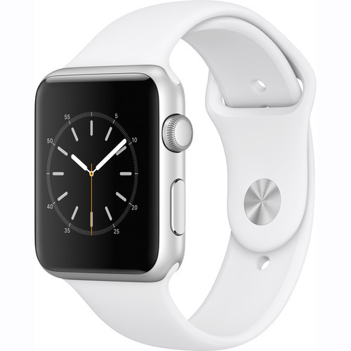 Watch Series 1 42mm Smartwatch (Silver Aluminum Case, White Sport Band)