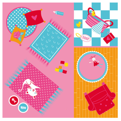 Fun2Give Pop-it-Up Dollhouse Tent with House Playmat - G8716569019293