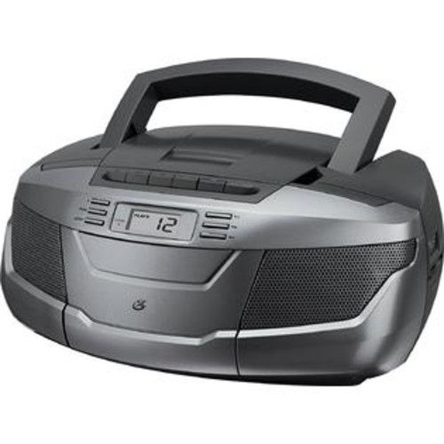 GPX, Inc. BCA206S Portable AM_FM Boombox with CD and Cassette Player