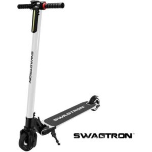Swagtron Lightest Carbon Fiber Powered Electric Scooter - White