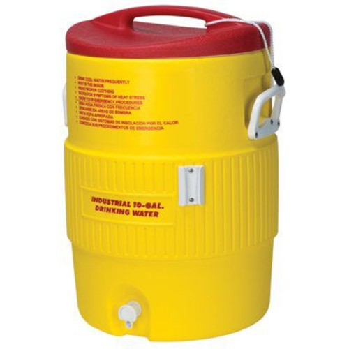 Igloo Heat-Stress Solution 10-Gallon Water Cooler, Red/Yellow