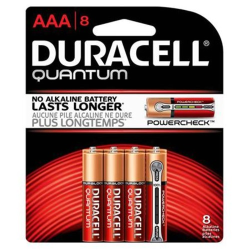 Duracell Quantum AAA Alkaline Batteries, 8 Pack
