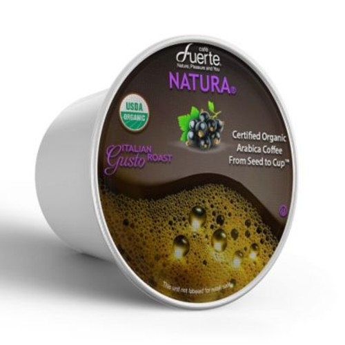 FUERTEGusto, K-Cup Compatible Pod, Italian Roast, USDA Organic Arabica Coffee, 18/PK. (KCC-8167)