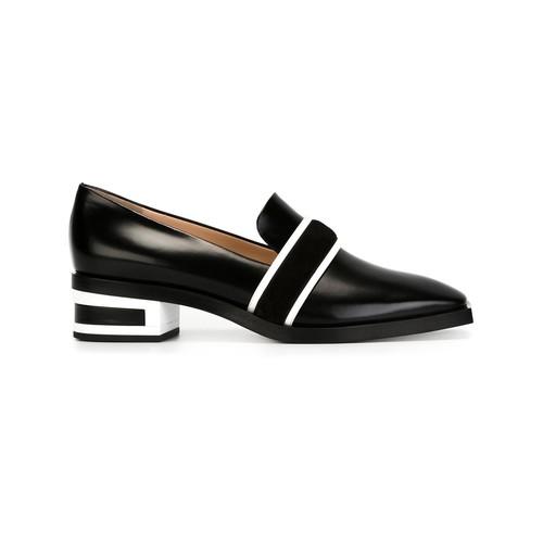 EMILIO PUCCI Striped Heel Slippers