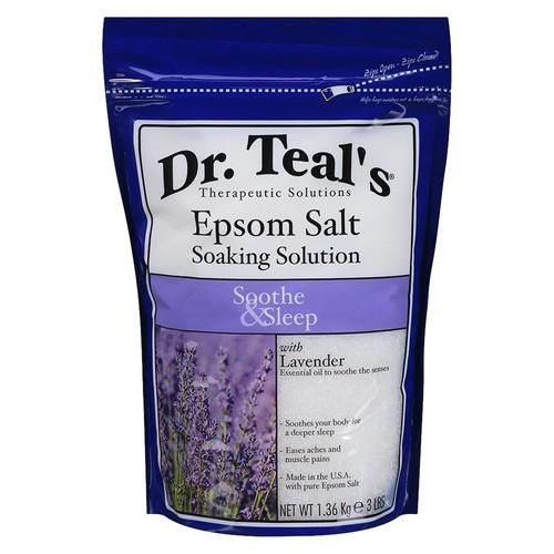 Dr. Teal's Sleep Epsom Salt Lavender Soaking Solution, Lavender, 8 fluid oz