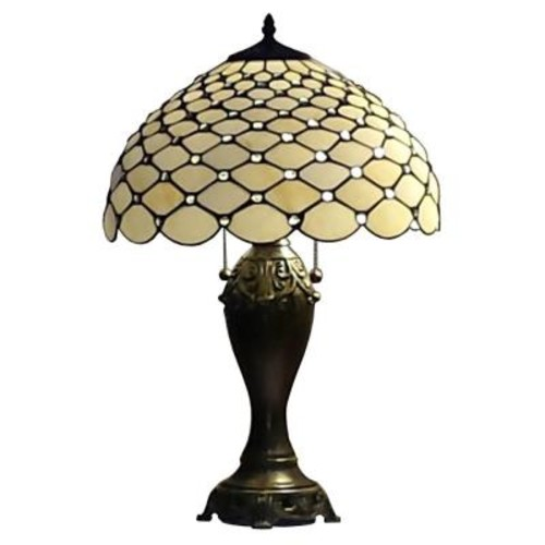Amora Lighting 25 in. Tiffany Style Chandelle Table Lamp