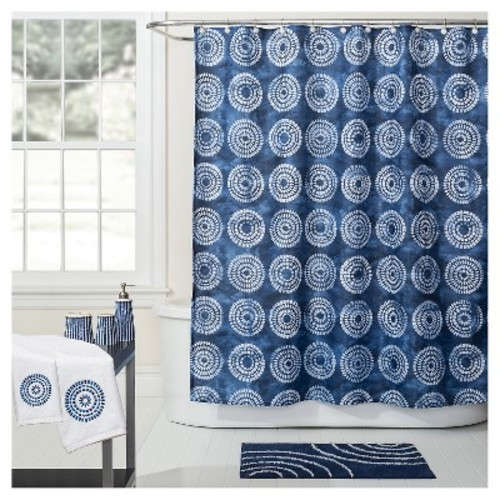 Waterfall Fabric Shower Curtain (70
