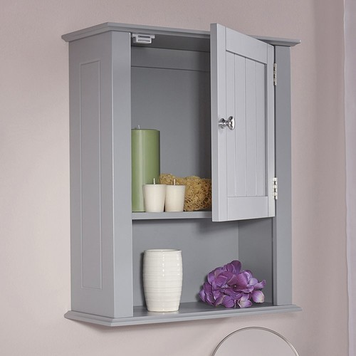 RiverRidge Ashland Gray One Door Wall Cabinet