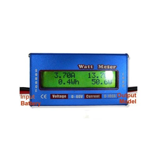 RC Boat Heli Watt Meter Digital LCD Display DC 60V 100A Battery Power Analyzer