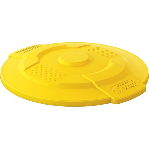 Suncast Commercial Lid for 20-Gallon Utility Trash Can  Yellow,