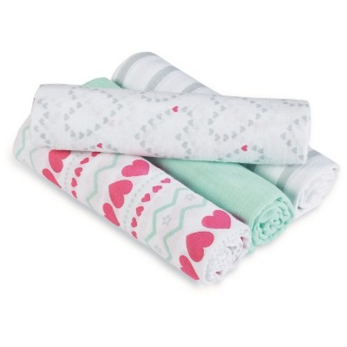 Aden by Aden + Anais Swaddle - 4pk - Light Hearted