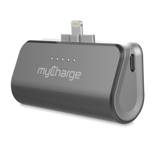 myCharge PowerPack 2600 mAh Portable Charger in Grey