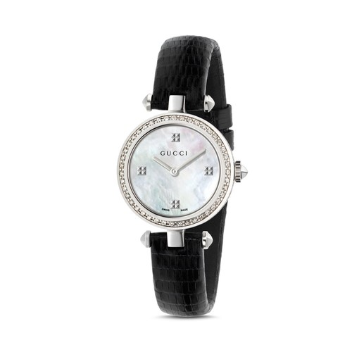 GUCCI Diamantissima Diamond Bezel Watch, 27Mm