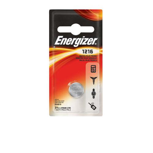 Energizer 3-Volt 1216 Lithium Watch/Electronics Battery