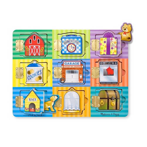 Melissa & Doug Hide and Seek Wooden Activity Board With Wooden Magnets [1]