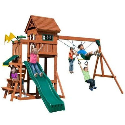 Swing-N-Slide Playsets Playful Palace Wood Complete Playset