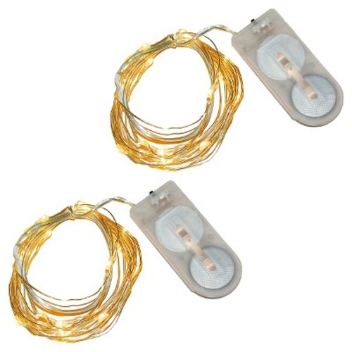 2ct Lumabase Amber Submersible LED Mini String Lights
