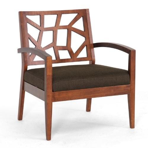 Baxton Studio Jennifer Modern Lounge Chair with Dark Brown Fabric Seat [brown]