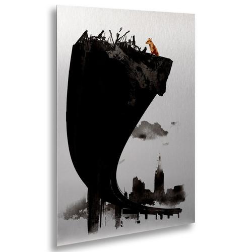 Robert Farkas 'The Last Of Us' Floating Brushed Aluminum Art