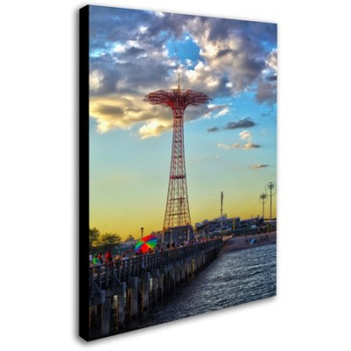 Coney Island by CATeyes, 14 by 19-Inch Canvas Wall Art [14 by 19-Inch]
