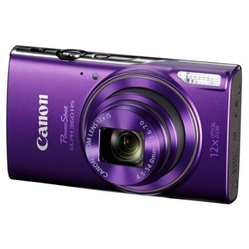 Canon PowerShot ELPH HS 360 Digital Camera and Free Accessories, Purple 1081C001 A