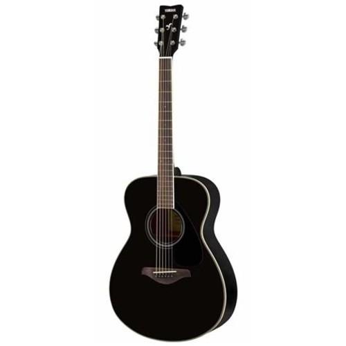 Yamaha FS820 6 String Folk Acoustic Guitar, Cream Body Binding, Black FS820 BL