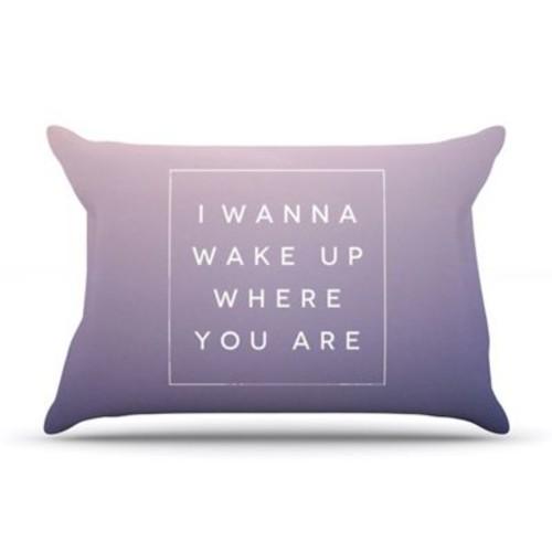 KESS InHouse Wake Up Pillowcase; King