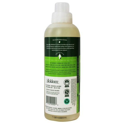 Biokleen Super Concentrated All Purpose Cleaner, 32 Ounces [32 Ounces]