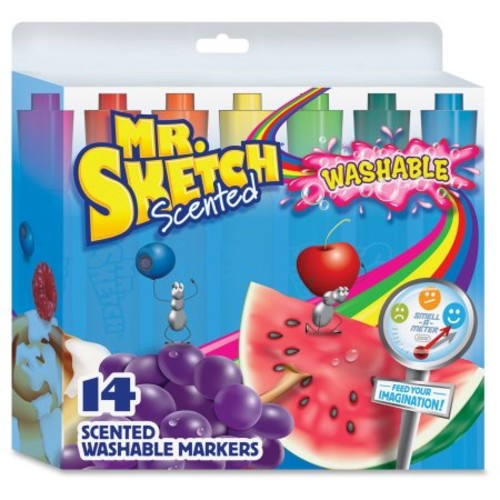 Mr. Sketch Scented Washable Markers - Chisel Marker Point Style - Assorted Ink - 14 / Set (1924061)