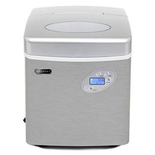 Whynter Imc-491Dc Portable Ice Maker With Water Connection - 49 Lb. Capacity - Stainless Steel