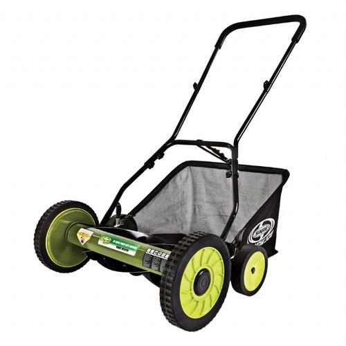Sun Joe MJ501M-RM Mow Joe 18 Inch Manual Reel Mower with Catcher (Refurbished) -
