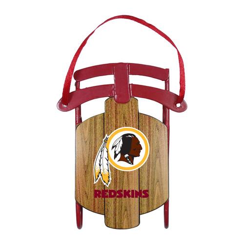 NFL Metal Sled Ornament - Washington Redskins