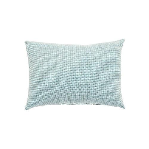 Veranda Pillow in Canal Blue & Turtledove design by Jaipur