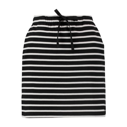 Striped stretch-cotton mini skirt
