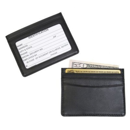 Royce Leather Men's Mini ID And Credit Card Holder [Black, One Size]