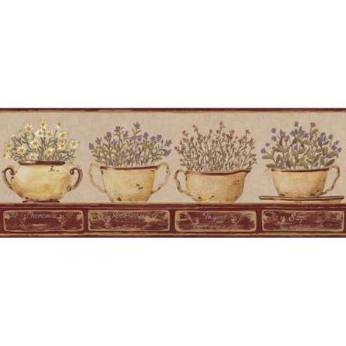 York Wallcoverings Hearts & Crafts III Herb Border