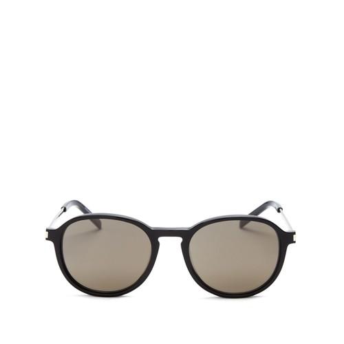 SAINT LAURENT Thin Rounded Pantos Sunglasses, 51Mm