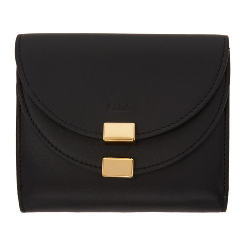 CHLOÉ Black Square Georgia Wallet
