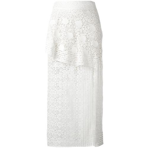 STELLA MCCARTNEY Ruffled Lace Midi Skirt