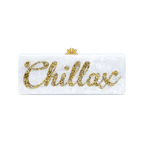 EDIE PARKER Embellished Chillax Print 'Flavia' Clutch