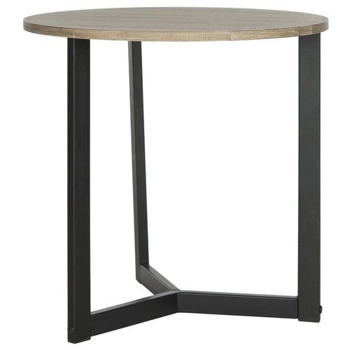 Ballard End Table in Oak & Black design by Safavieh