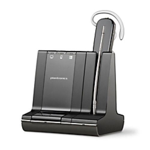 Plantronics Savi 740-M Wireless Headset System, Black/Silver
