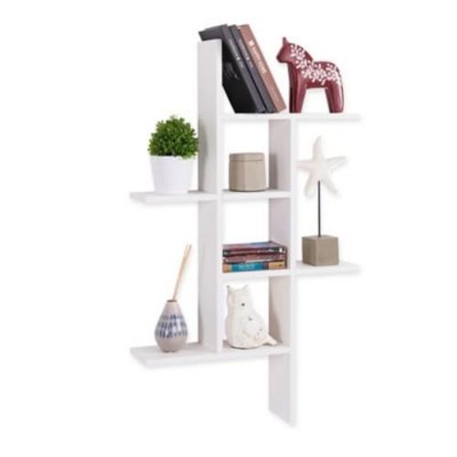 Danya B MDF Cantilever Wall Shelf in White