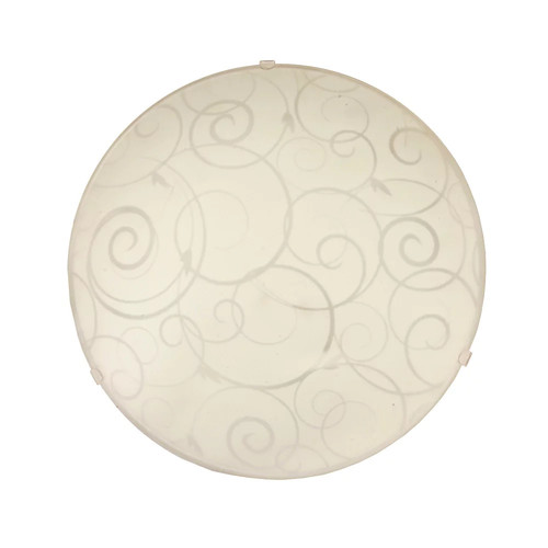 All the Rages Inc Simple Designs Round Flushmount Ceiling Light with Scroll Swirl Design