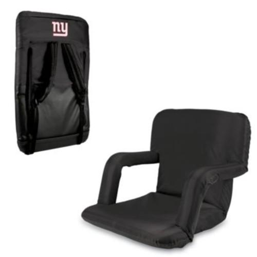 Picnic Time Portable Ventura Reclining Seat - New York Giants (Black)