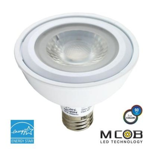 Euri Lighting 75W Equivalent Warm White (2700K) PAR30 Short Neck Dimmable MCOB LED Flood Light Bulb