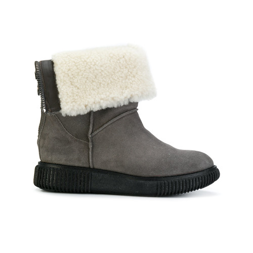 shearling cuffed boots