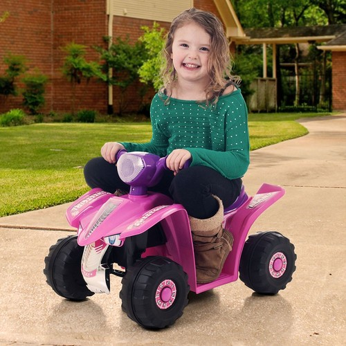 Ride On Toy Quad, Battery Powered Ride On Toy ATV Four Wheeler by Lil' Rider  Ride On Toys for Boys and Girls, For 2 - 5 Year Olds (Pink and Purple)